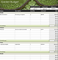 Free Download Lawn and garden budget