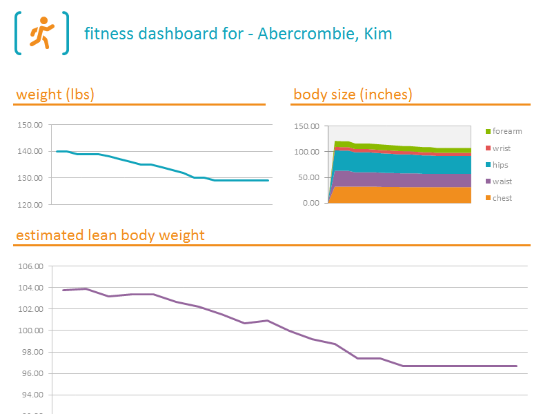 Free Download Fitness Tracker Dashboard Templates