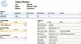 Free Download Baby Shower Planner Checklist Template