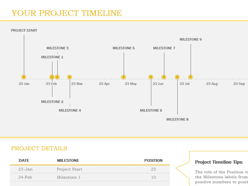 Download Excel Timeline Template - Ms excel timeline template