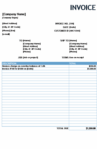 Financial Charge Invoice Reports For Excel 2013 Or Newer