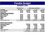 Free Download Flexible budget