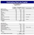 Free estimate templates joy studio design gallery best for Start up capital template