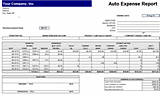 Free Download Auto expense report