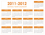 Free Download 2011-2012 school calendar
