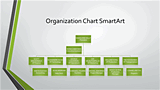 Download Organizational Chart Gray Green Widescreen