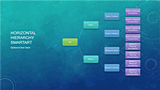 download family tree chart (horizontal, blue, widescreen), Modern powerpoint
