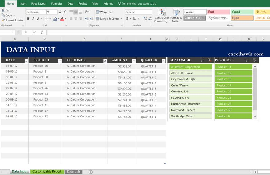 Free Download Excel Sales Report in Weekly Monthly Quarterly Period