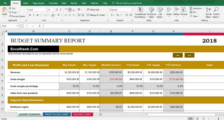 Free Download Company Business Budget Software in Excel