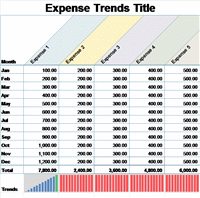 Small Business Monthly Expense Report Template