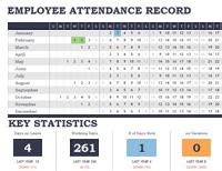 Employee Attendance Tracker Calendar Sheet Template