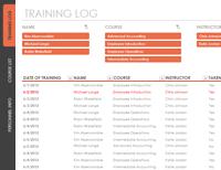 Employee Training Tracker Spreadsheet Template