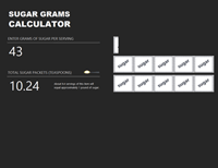 Excel Sugar Gram Calculator