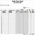 Daily Time Sheet - Services Rendered