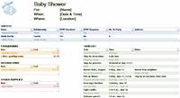 Baby Shower Planner Checklist Template
