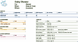 Baby Shower Planner For Excel 2013 Or Newer - Excel 2013 ...