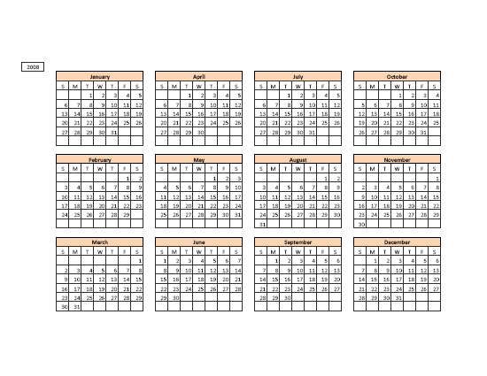 Year Calendar Maker : Download year related excel templates for microsoft