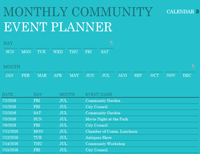 Community Event Planner Excel Template