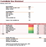 Controllable Excel Timesheet Sample Template