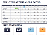 Download Employee Attendance Tracker Calendar Sheet Template for Microsoft Excel 2013 or newer