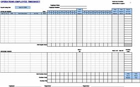 Employee Timecard Timesheet Templates