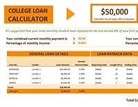 Excel College Loan Calculator