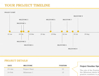 microsoft excel timeline template