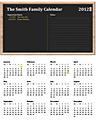 Download Family Calendar (any Year, Mon-sun) for Microsoft Excel 2010