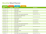 Download Free Healthy Family Meal Ideas Planner Template for Microsoft Excel 2013 or newer