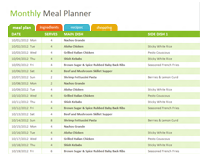 Free Healthy Family Meal Ideas Planner Template