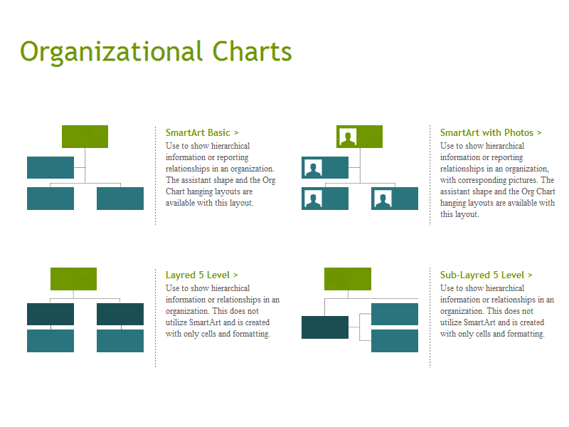Download Gantt Diagramm Excel Organization Charts for Microsoft Excel 2013 or newer