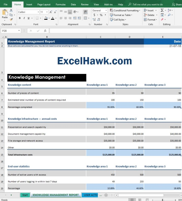 Download Knowledge Management Kms Report For Enterprise for Microsoft Excel 2016