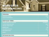 Download Mortgage Refinance Loan Break Even Calculator With Taxes for Microsoft Excel 2013 or newer
