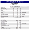 Start-up Capital Estimate