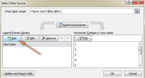 Gantt Chart Excel Template Step 4