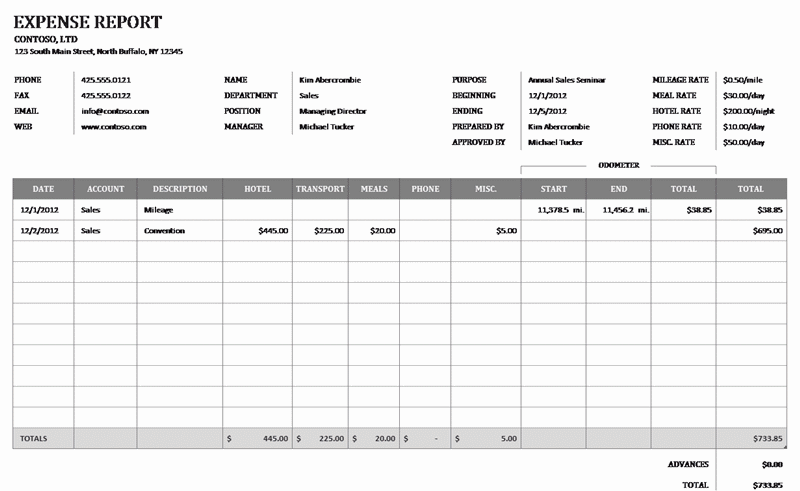 Download 01 Business Expense Reimbursement Form