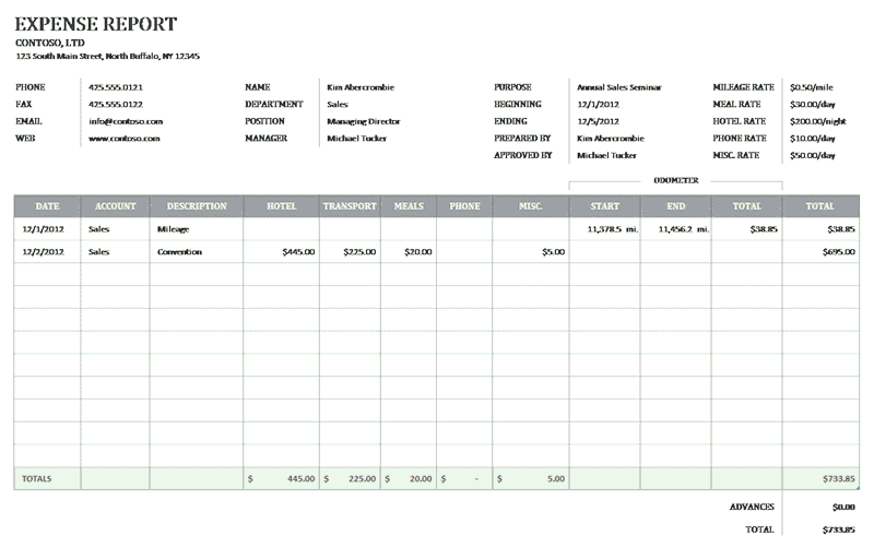 Download 03 Business Expense Reimbursement Form