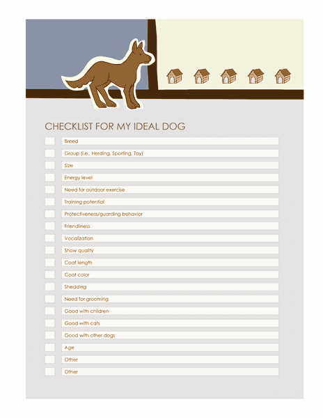 Download 02 Checklist Templates For Ideal Dog