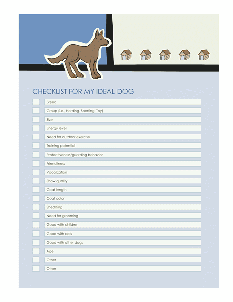 Download 03 Checklist Templates For Ideal Dog