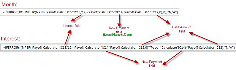 Credit Card Loan Payoff Calculator Excel Template Tutorial – Credit Card Payoff Calculator