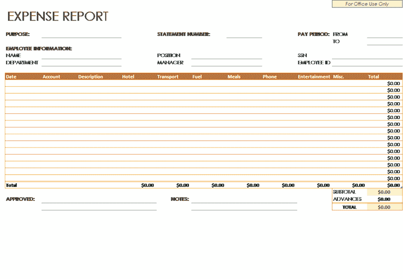 Download 03 Employee Expense Report Template