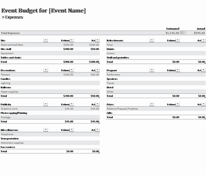 Download 01 Event Budget