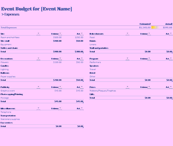 Download 06 Event Budget