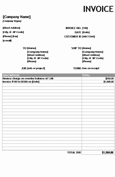 Download 01 Financial Charge Invoice Reports