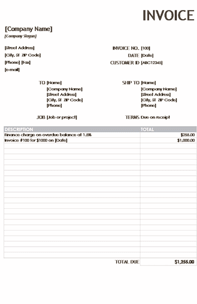 Download 02 Financial Charge Invoice Reports