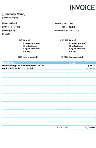 Download 03 Financial Charge Invoice Reports