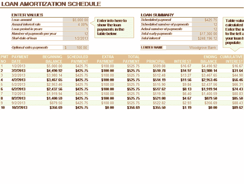 Download 02 Loan Amortization Schedule