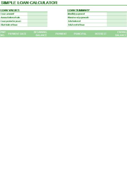 Download 03 Loan Calculator Amortization Schedule