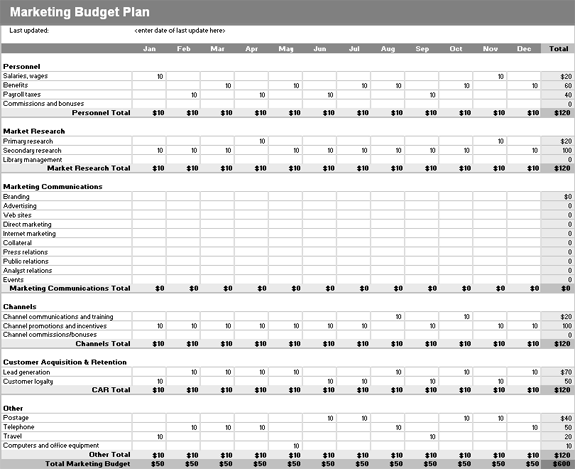 microsoft excel budget template 2013 - download marketing budget plan related excel templates for