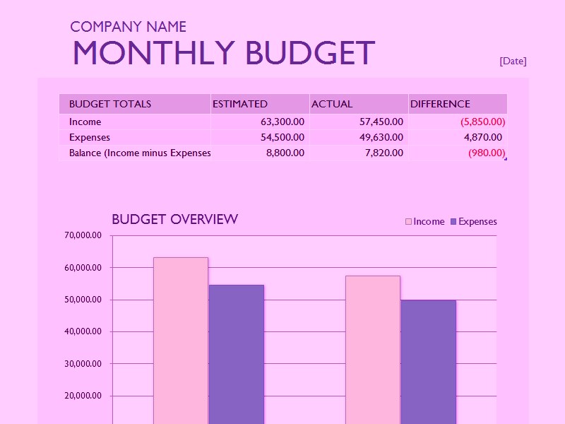 06 Monthly Expense Report Templates